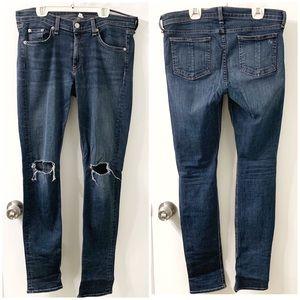 Rag & Bone Ripped Knee Skinny Jeans 👖 Size: 30